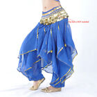 Belly Dance Pants Bloomers Gold Wave Sequins 11Color IN