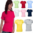 Ladies Fitted T Shirt Top Size 8 to 18 New  100% Cotton