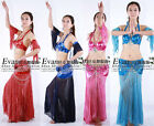 New belly dance 4  pics costume bra& skirt armbands