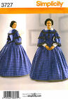Reduced! Simplicity 3727 Civil War Day Dress Gown Pattern 8-14 or 16-24