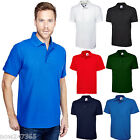 Mens 100% Cotton Rich Polo Shirt Plain Pique Size XS to 4XL Ultra Cool and Soft