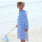 Girls Mitty James Long Hooded Beach Towelling Dress/top