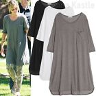 New Womens Soft Lightweighted T shirt Dress Loose Fit size M - L