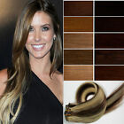"One Piece 5 Clips in Human Hair Extensions 28"" 70cm HOT"