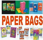 Pk 12 Printed Paper Bags FREE SHIPPING You Choose Style