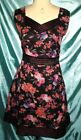 Monsoon 50s Style Floral Rose Print Dress, Sz 8 – 18