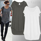 AnnaKastle New Womens Slant Tee Dress Soft Cotton Tunic size S - M