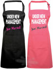 Under new management bride to be wedding gift, apron