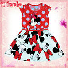 Reds Polkadot Minnie Mouse Princess Party Flower Girls Dresses SIZE 1-2-3-4-5-6T