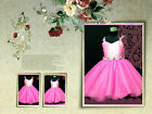 Hot Pink Pageant Flower Girls Dresses Age 2-3-4-5-6-7-8