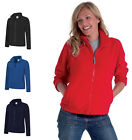 Ladies Full Zip Premium Fleece Jackets Size XS to 4XL SPORTS WORK CASUAL - 608