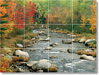 S-M-L-XL Lakes Rivers Photo Ceramic Kitchen Backsplash Wall Decor Tile Murals 16