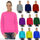 Ladies Sweatshirt Size UK 10 to Plus 28 Classic NEW Sports Casual School 300gsm
