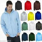 Mens Zip Hoodie Jacket Size XS to 3XL Zip-Up Hooded Sweatshirt NEW