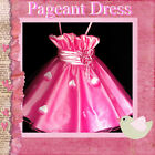 HP5299 Hot Pink Christmas Party Flowers Girls Pageant Dress SZ 2-3-4-5-6-7-8-10Y