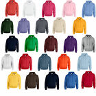 2 GILDAN PULLOVER SWEATSHIRT HOODIE HOODYS - 25 COLOURS! - CHEST SIZES 36-52""