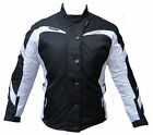 LADIES WHITE MOTORBIKE WATERPROOF CORDURA JACKET