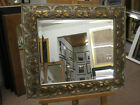"NEW LARGE 4"" ORNATE ANTIQUE GOLD OVERMANTLE WALL/HALL MIRRORS - BUY DIRECT"