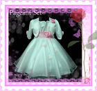 P05 AU11 Pinks Wedding Girls Pageant Dress + Jacket Set SIZE 2-3-4-5-6-7-8-9-10Y