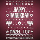 happy hanukkah ugly sweater christmas party mazel tov contest t shirt funny cool