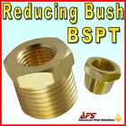 BRASS Male x Female Reducing Bush, Taper Type Reducer Fitting Gas Air Water Fuel