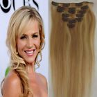 18-613 _ 100% Human Hair Extensions - Clip in hair extension / one piece 5 clips