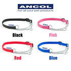 Ancol Dog Half Nylon Chain Check Collar Choke Puppy Training Pink Black Red Blue