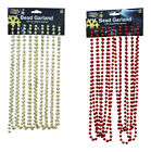 18ft / 5.4m Bead Garland Christmas Decoration Red or Gold