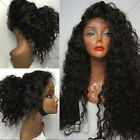 Queen Afro Kinky Curly Brazilian Remy Human Hair Full/Front Lace Wigs Baby Hair