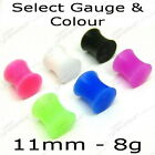 FLEXI SILICONE DOUBLE FLARE EAR SADDLE PLUG SELECT SIZE CLEARANCE BODY JEWELLERY