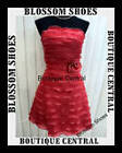 RED LAYERRED COCKTAIL EVENING PROM FORMAL PARTY DRESS  Sz 8 10 12 14 16  NEW