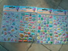 Padded stickers-smiley faces/cats/dogs/teddies/words-card making/craft FREE P&P