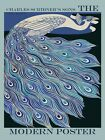 Blue Peacock Bird New York Design Fashion Scribner Vintage Poster Repo FREE S/H