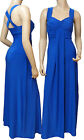 Long Evening Cross Back Maxi Dress (Royal Blue D1010) -  UK Size 8 - 22
