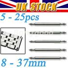 8 - 37mm 5X Watch Band Stainless Steel Spring Bar Metal Strap Link Assorted Pin