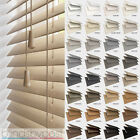 WOODEN VENETIAN REAL WOOD BLINDS - 25,35 & 50mm SLAT SIZES - CHILD SAFE BLIND