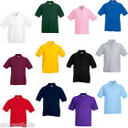 FRUIT OF THE LOOM CHILDRENS KIDS POLO T SHIRT 11 COLOURS AGES 3-15 FAST POST
