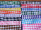 "New 1/8"" Gingham Polycotton 15 colours 45"" wide £3 per mtr Craft Bunting"