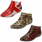 WHOLESALE Ladies Flat Pixie Style Ankle Welly   Sizes 3-7 x14pairs   X1186