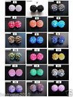 Freeshipping 20pcs Sparkling AB Resin Rhinestones Round Ball Spacer Beads Pick