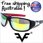 New Designer Mens Sunglasses Mirror Lens Black White Blue Red Sunnies FF7820