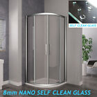 Quadrant Shower Enclosure Walk In Corner Cubicle Glass Screen Door+Stone Tray