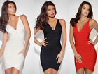 V Neck Bandage Dress Bodycon Dresses Evening Cocktail Party Dresses HL530# XS-L