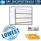 Pack of 10 White 4x4 Slatwall Panels + inserts - New