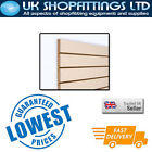 Pack of 4 Cream 4x4 Slatwall Panels + inserts - New