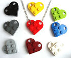 LEGO Heart Necklace Silver / Gold Plated plate brick best friends wedding favour