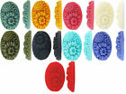 Large Oval Pretty resin flat back cabochon flowers 22x32mm 10 pieces