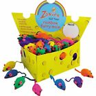 "Zanies Cheese Wedge Displays FILLED w/ 60 Cat Toys 3"" L, 3 STYLES  LOTS OF FUN"
