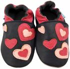 MINIFEET SOFT LEATHER BABY GIRL SHOES 0-6, 6-12, 12-18,18-24 Mth & 2-3 Yr HEARTS