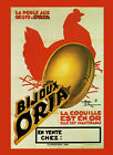 Chicken Gold Eggs Bijoux Oria France French Food Vintage Poster Repro FREE S/H